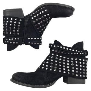 Matisse black suede studded Reno  ankle boot